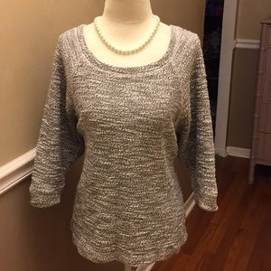 Sweaters - Multi color Hi-lo sweater with lace elbows